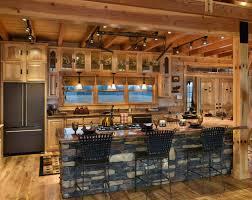 Mexican kitchen decor with stone kitchen island