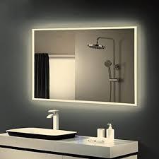 anten badspiegel mit led warmweiß 4000k design spiegel für badezimmer led größe 800x600mm spiegel mit licht wand spiegel