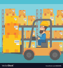 100 How To Load A Moving Truck Warehouse Worker Moving Load By Forklift Truck Vector Image