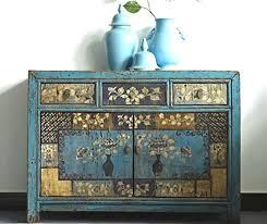 opium outlet chinesische kommode schlafzimmer sideboard vintage anrichte blau shabby chic stil kolonialstil antik holz