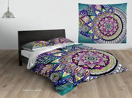 Asymmetric Bohemian Mandala Duvet Cover Awesome Stuff 365