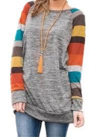 poulax women u0027s cotton knitted long sleeve lightweight tunic