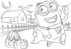 Click To See Printable Version Of Minions Hallowen Coloring Page