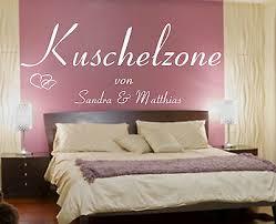 wandtattoo schlafzimmer kuschelzone mit wunschnamen