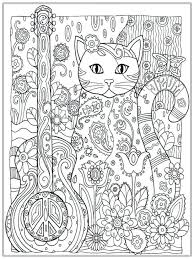 Free Printable Coloring Pages For Adults Advanced Pdf Pretty Cat Adult Animals Medium Size