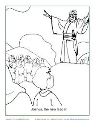 Joshua The New Leader Coloring Page