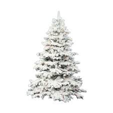 Vickerman 75 Ft Pre Lit Alaskan Pine Flocked Artificial Christmas Tree With White Clear