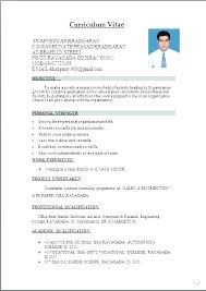 Word Document Resume Templates Sample Template Intended For Format Job Microsoft Office Free Download Ms Cv