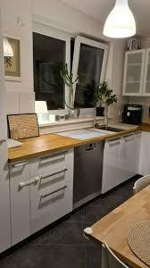 ikea küche metod l form hochglanz weiß mit bosch geräten