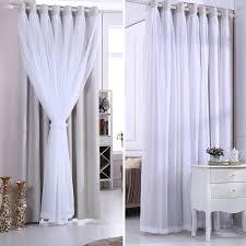 moderner vorhang mit gardinen uni für schlafzimmer 1er pack