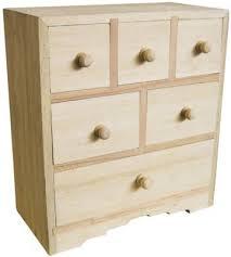 boite a tiroirs en bois bois brut bois brut commode 6 tiroirs 200 x 100 x 200 mm