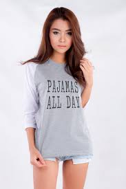 pajamas all day funny tshirt quote shirts with sayings