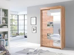 kleiderschrank schach 120 cm groß spiegel schiebetüren schrank modern 2 farben