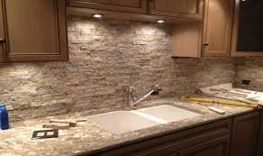 Stacked Stone Backsplash Fair Stone Kitchen Backsplash Home