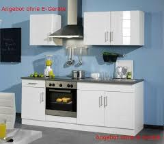 held möbel 647 6033 küchenzeile 210 in hochglanz weiß anthrazit