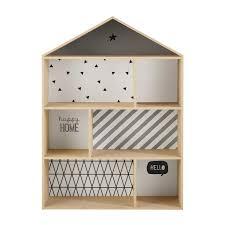bibliothèque maison enfant en bois l 102 cm graphikids maisons
