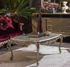 casa padrino luxus barock couchtisch silber 122 x 71 x h 48 cm massivholz wohnzimmertisch edle barock möbel