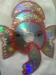 Art And Craft For Kids From Waste Material Image Detail Maha Arts Crafts Cd Ganesh Vinayagar