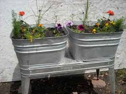 Wash Tub Planter Idea