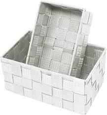 lashuma doppelpack aufbewahrungsboxen größen 19 x 10 x 7 cm und 20 x 13 x 10 cm offene badezimmer körbchen farbe silber