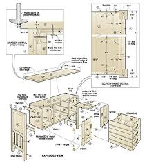 Ideas Woodworking Free Plans For Buffet On Dining Room Hutch