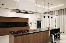 Incredible Rectangle Wooden And Black Top Granite Luxury Modern Kitchen Designs With Custom