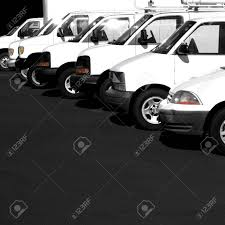 100 Vans Trucks Several Cars And Parked In Parking Lot For Sale Stock