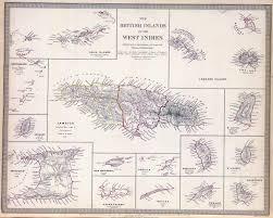 1855 Map Of West Indies Jamaica 1882 1892 1901 1906 1944 Savanna La Mar