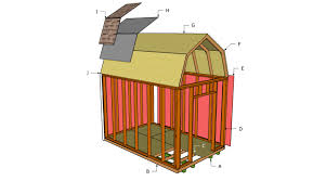Slant Roof Shed Plans Free by Gambrel Shed Plans Myoutdoorplans Free Woodworking Plans And