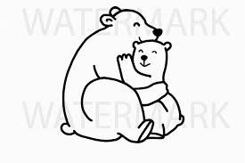 Mama Bear Cuddles Cub