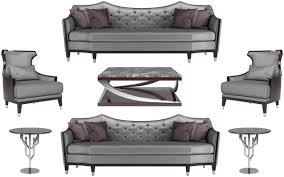 casa padrino luxus wohnzimmer set silber schwarz dunkelbraun 2 sofas 2 sessel 1 couchtisch 2 beistelltische luxus wohnzimmer möbel
