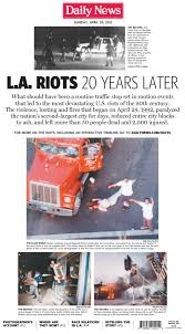 L.A. Papers Look Back On The Rodney King Beating Post-verdict Riots ... Rodney King And The La Riots 7 Key Moments From 1992 Riots Abc7com Anniversary 8 Infamous Videos 25 Years Later Whntcom Gregalan Williams Tried To Be Voice Of Reason In Nbc Dramatic Photos Johnnie Cochrans Case History Proves He Was On Oj Simpsons Rembering The Los Angeles Reginald Denny Attacker Still Coming Terms With How Changed Those Who Were Caught Them Las Vegas