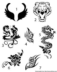 Easy Temporary Tattoo Draw Your Design On A Piece Of Paper With