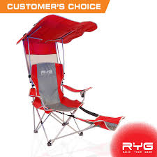 Raise Your Game RYG Folding Camping Chair Set, Portable Outdoor Reclining  Camp Chairs, Heavy Duty Lightweight Lounge Beach Chair With Adjustable  Shade ...