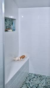 Mother Of Pearl Large Subway Tile by Best 25 Glass Tile Shower Ideas On Pinterest Glass Tile