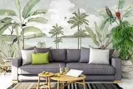 tropical wallpaper self adhesive peel and stick view