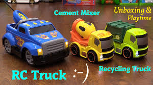 Toy Unboxing: Bruin RC Pick-Up Truck, Cement Mixer And Garbage Toy ... Garbage Trucks Videos For Toddlers Truck And Excavator Toys Video For Children Playing At Cars Handmade Wooden Puzzles 13 Top Toy Tow Kids Of Every Age Interest Electric Not Lossing Wiring Diagram 3 Bees Me Car Play Set Transportation Theme Best Mini Trucks Toddlers Amazoncom Ice Cream Food Playhouse Little Tikes Dump Learn Vehicles Disney Mater 6v Battery Powered Rideon Quad Walmartcom Outdoor