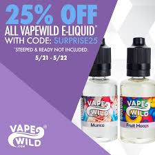 Coupon Code SURPRISE25 | VapeWild Giveaways | Vape Juice ... Vape Ejuice Coupon Codes Promo Usstores Archives Vaping Vibe Hogextracts And House Of Glassvancouver Vapewild Deal The Week 25 Off Cheap Deals Ebay Mystery Box By Ajs Shack Riptide Razz 120ml Juice New Week New Deal Available Until 715 At Midnight Cst Black Friday Cyber Monday Vapepassioncom Halloween 2018 Gear News Hemp Bombs Discount Codeexclusive Simple Bargains Uk