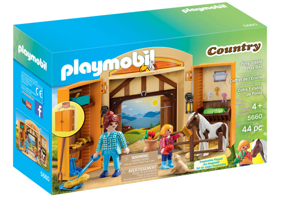 Playmobil 5660 Country Pony Stable Play Box