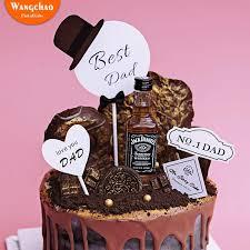 4 teile beutel best glücklich geburtstag kuchen topper vater tag kuchen dekoration ich liebe sie cupcake topper liefert