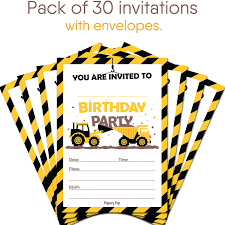 Amazon.com: 30 Construction Dump Trucks Birthday Invitations With ... Dump Truck Baby Shower Invitation Hitachi Eh5000 Aciii Gold 187 Trucks Pinterest Cstruction And Tiaras Sibling Birthday Invitations Printed Invites Heavy Equipment Free Christmas Templates New Party Images Of Garbage Design Lovely Invite Digital Clipart Truck Cement Bulldoser Perfect Mold Card Printable Diy Boy Mama A Trashy Celebration Day The Dead Cam Newton In Car Crash With
