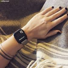 Innovative Simple Dotted Line Armband Tattoo For Girl