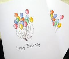 Balloon Art Birthday Cards Set Watercolor Notecards Card