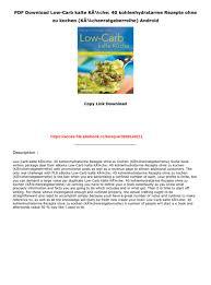 pdf low carb kalte kã che 40 kohlenhydratarme