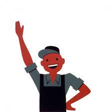 Happy Man Waving Clipart