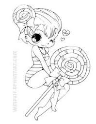 Chibi Lollipop Girl Coloring Page From Anime Girls Category Select 27278 Printable Crafts Of Cartoons Nature Animals Bible And Many More