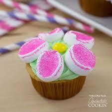 Marshmallow Flower Cupcakes Cupcake Recipe