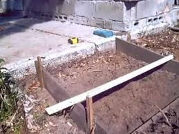 How To Build A Wooden Shed Ramp by Building A Small Concrete Ramp Youtube