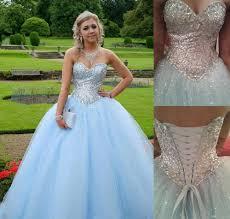 light blue prom dress ball gown prom dress princess prom gown