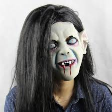 Halloween Scare Pranks 2015 by 2015 Halloween Party Scary Latex Mask Full Face Head Female Long
